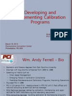 PITTCON 2013 Developing Implementing Calibration Programs