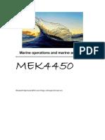 Mek4450 Marine Operations Exercises
