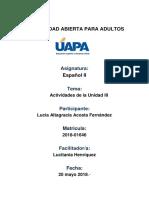 activida III Español II.docx