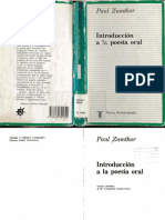 ZUMTHOR Paul - Introduccion a la poesia oral.pdf