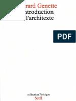 Genette, Gérard - Introduction à l'Architexte