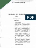 sociología del folckore
