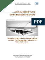 Memorial Descritivo Do Projeto CONSTRUÇÃO PP