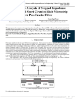 Comparative Analysis of Stepped Impedance with Open and Short Circuited Stub Microstrip Low Pass Fractal Filter