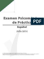 Psychometric July 2014 Spanish