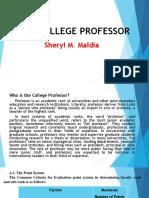 28.the College Professor.sherylmmaldia