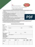 Distributor Biodata Form