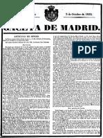 Real Decreto Sobre El Testamento de Señor Rey D. Fernando VII