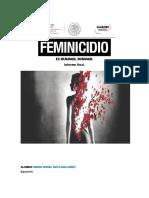 Proyecto de Investigacion de El Feminicidio en Durango