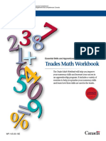 Trades Math Workbook