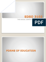 Edso 3102 Forms of Education Explained