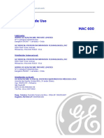Sistema de Análise de ECG Em Repouso MAC 600 2047426-022A