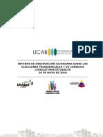 Informe de Observación Ciudadana sobre el proceso de elecciones el #20May