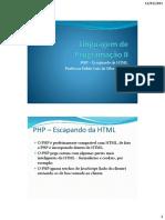 03 - LprII - Escapando Da HTML