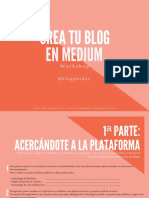 Crea Tu Blog en Medium Workshop