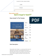 Rose Guide to the Temple - Download Free eBooks