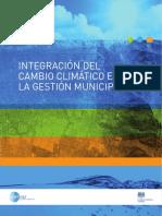 Integracion Del Cambio Climatico en La Gestion Municipal