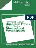 [Progress in Mathematics 1] Herbert Gross (Auth.) - Quadratic Forms in Infinite Dimensional Vector Spaces (1979, Birkhäuser Basel)
