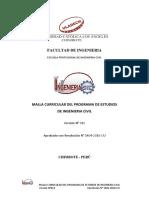 Malla Curricular de La Carrera Profesional de Ingenieria Civil v12