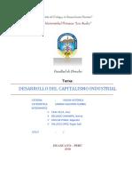 Desarrollo Del Capitalismo Industrial
