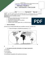 Prueba de Historia Geografia 2