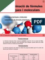 03 Determinació de Fórmules Empíriques i Mloeculars