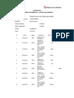 Constancia Consulta de Ultimos Movimientos - Cuenta de Ahorros