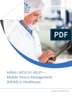 Mobile Device Management for Healthcare