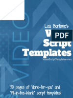 Video Script Templates