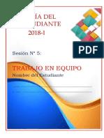 Guía Del Estudiante Trabajo en Equipo- Sesión Nº05