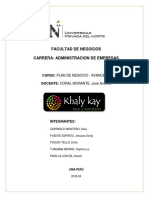 Khaly Kay Final Plan de Negocio
