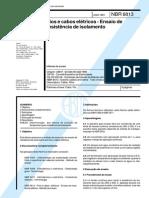 NBR-6813-Fios e cabos eletricos - Enasio de resitencia de isolamento.pdf