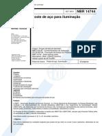 NBR 14744 - 2001- Poste de aço para iluminacao.pdf