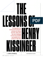 Jeffrey Goldberg - The Lessons of Henry Kissinger (the Atlantic, Dec 2016)