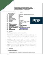 Silabo Corrosion y Proteccion 2018-1