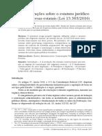 Zymler, Benjamin - Consideracoes Sobre o Estatuto Juridico Das Estattais Lei 13.303