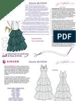 Instrucciones de Costura Vestido Fiesta Ambar MJ1054v
