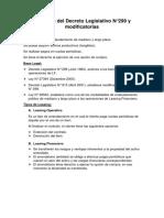 Resumen Del Decreto Legislativo