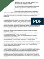 REDUCCIÓN DE LAS INTOXICACIONES ALIMENTICIAS