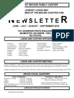 Moose Newsletter June July Aug Sept 2018