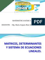 Matrices Determinantes Sistema de Ecuaciones