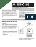 Yamaha NSC 103 Owners Manual