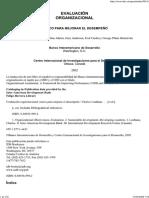 Libro Evaluación Organizacional-marco Para Mejorar El Desempeño