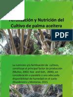 Fertilización y Nutrición del Cultivo de palma aceitera 2018.pptx