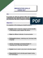 Communication Skills Using Nlp - Activities