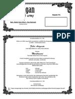 contoh undangan tasyakuran walimatul ursy