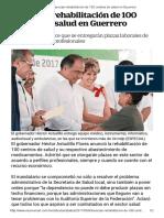 08-05-2017 Anuncian Rehabilitación de 100 Centros de Salud en Guerrero.