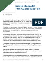 10-05-2017 Entregan Cuarta Etapa Del Programa Un Cuarto Más en Acapulco.