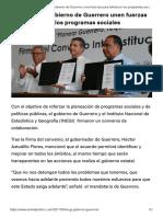 12-05-2017 El INEGI y El Gobierno de Guerrero Unen Fuerzas Para Fortalecer Los Programas Sociales.