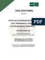 2017 - TESIS - Efecto de La Variedad Estimular en El Aprendizaje a Traves de Contingencias Operantes - Eduardo Polin - Fundacion Lovaas